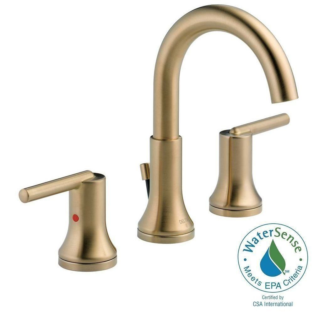 Delta Trinsic 8 In Widpread 2 Handle Bathroom Faucet with Metal