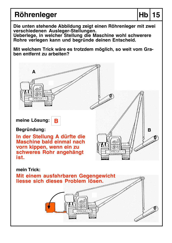 Das Hebelgesetz Am Beispiel Von Kranen Baggern Und Lastwagen Unterrichtsmaterial Im Fach Physik In 2020 Gesetz Physik Unterrichtsmaterial