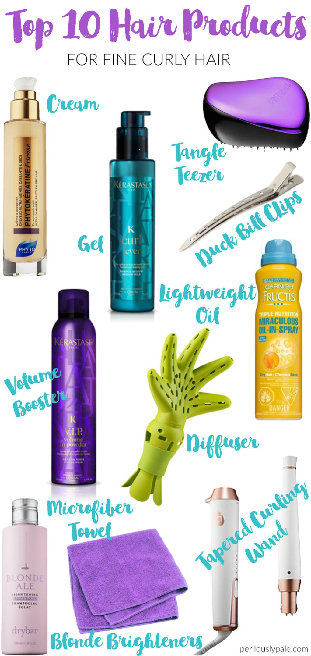 Top 10 Hair Products for Fine, Curly Hair | Perilously Pale