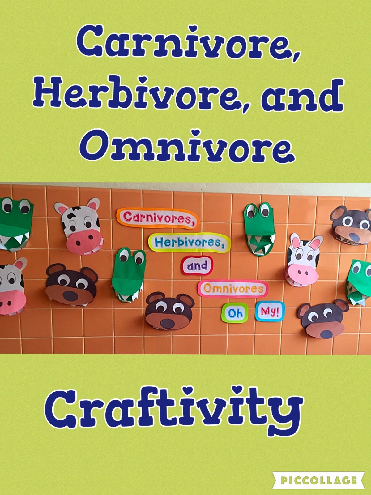 Carnivore, Herbivore, & Omnivore Craftivities and