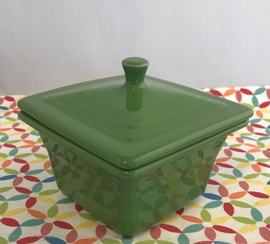 Fiestaware Shamrock Square Covered Box Fiesta Belk Green Trinket Box with Lid : square fiesta plates - pezcame.com