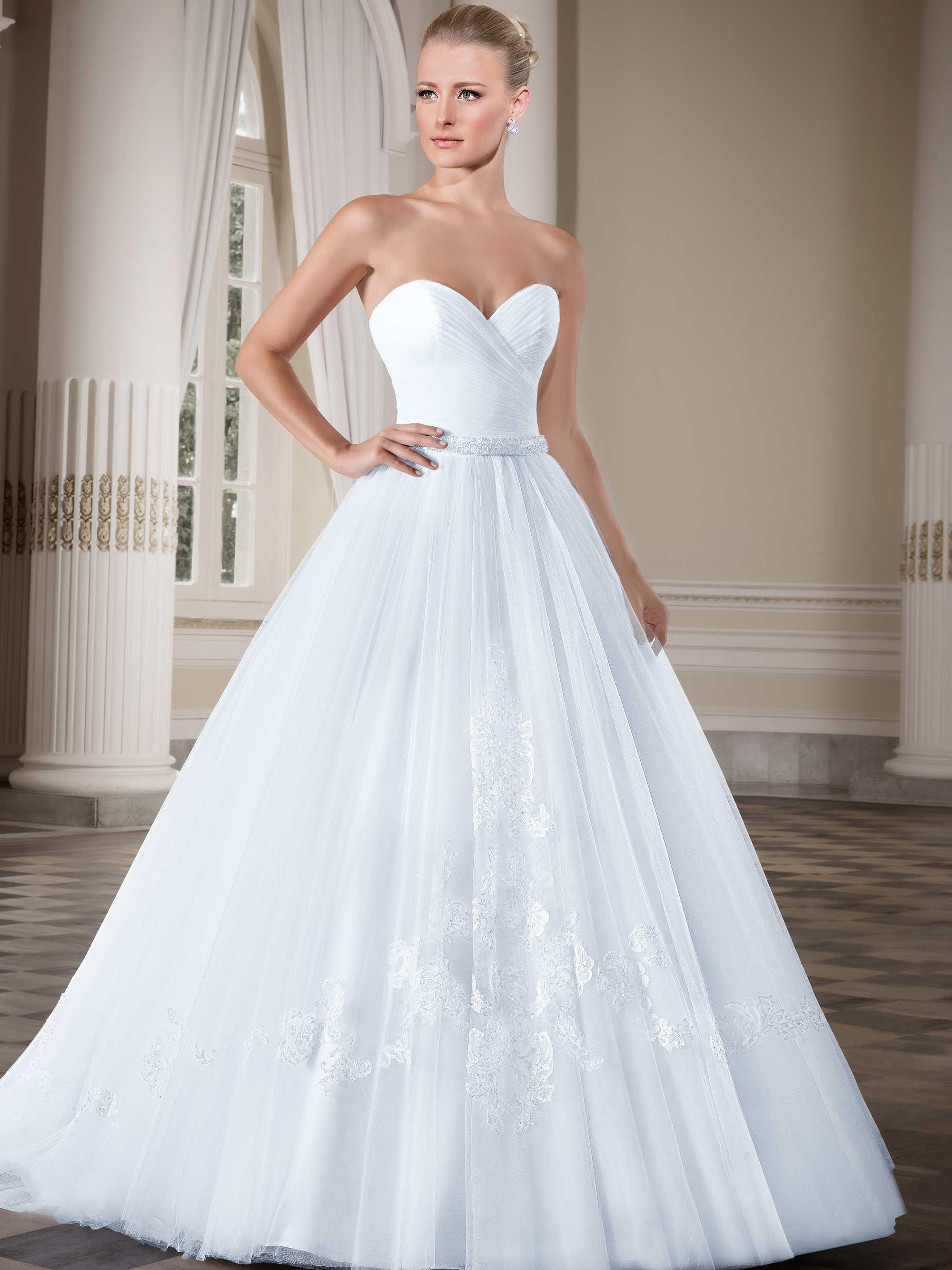 Vestidos de noiva - Coleção Callas (5) Frente tomara que caia ...