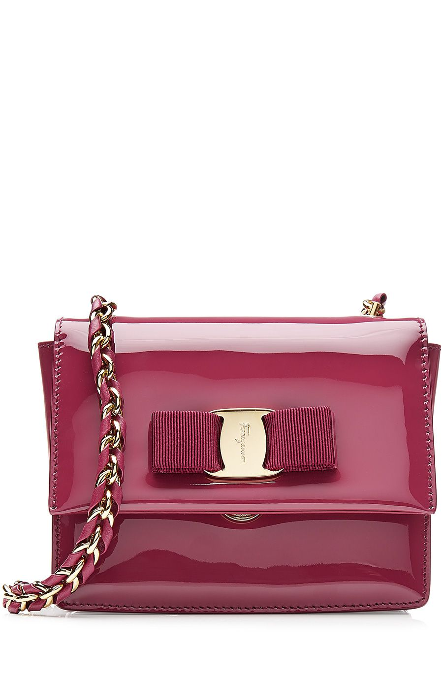 fe0d899289 SALVATORE FERRAGAMO Patent Leather Mini Ginny Shoulder Bag