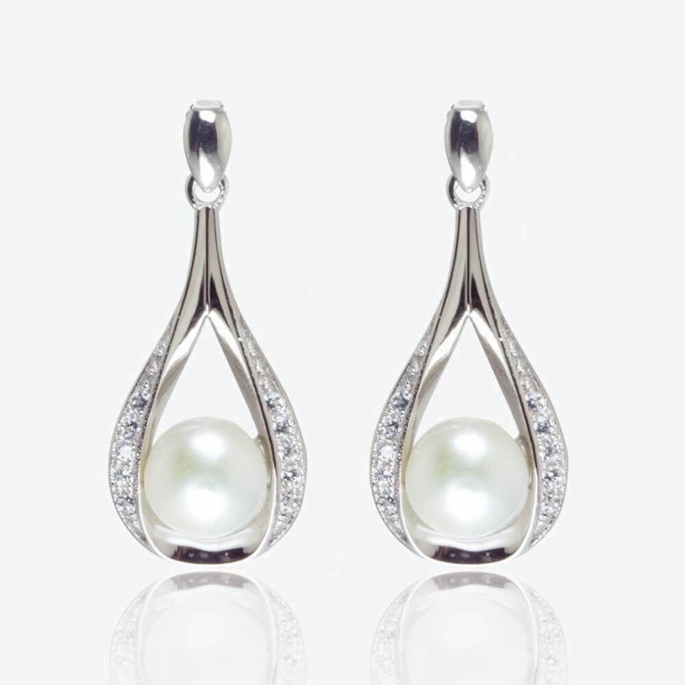 elegant freshwater pearls fitted by sterling earrings shop silver with pearl jacket honey papaya jewellery