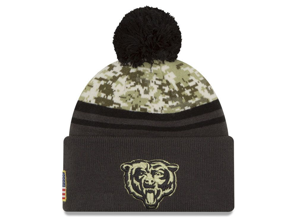 new concept 4927b d57c2 Chicago Bears New Era NFL Salute to Service Official Pom ...