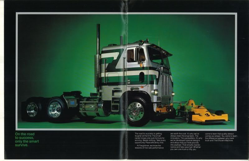 Freightliner Cabover Paint Schemes Google Search Old