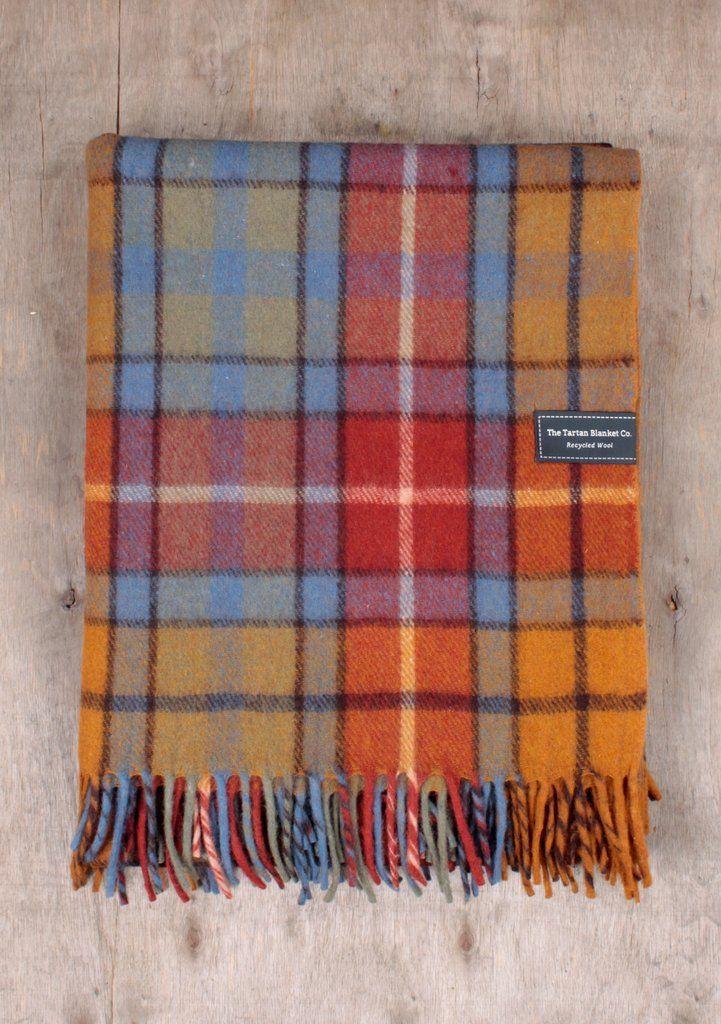 Recycled Wool Blanket In Buchanan Antique Tartan In 2018
