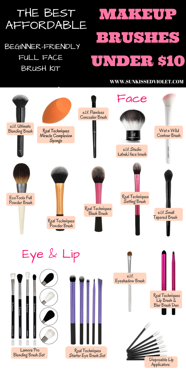 THE BEST AFFORDABLE MAKEUP BRUSHES UNDER 10 Best