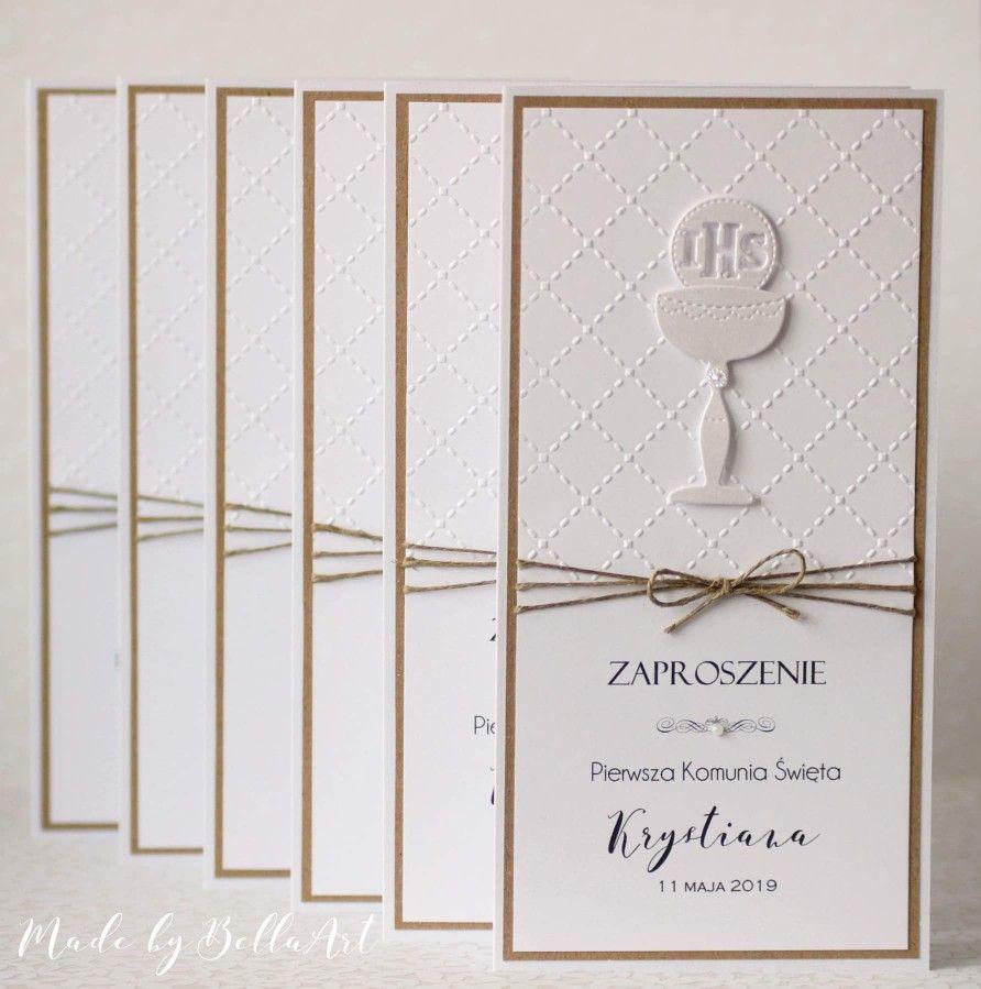 Pin By Katarzyna Polaniak On Kartki Komunijne I Na Bierzmowanie Cards Handmade First Communion Cards Cards