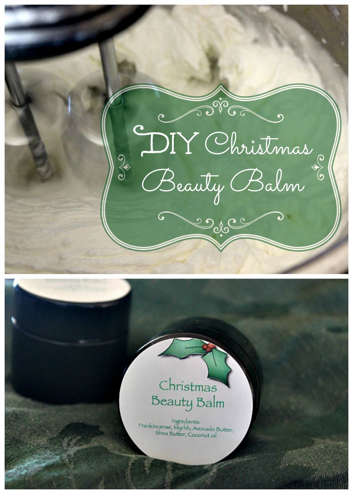 Looking for natural Christmas gift ideas? Consider this luxurious, simple Christmas Beauty Balm with frankincense and myrrh! #diychristmasgifts