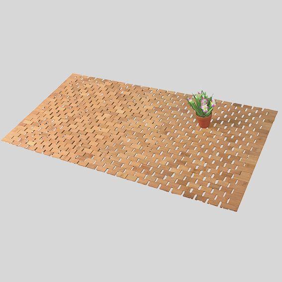 tapis de bain lattes bois bambou - Caillebotis Salle De Bain Teck