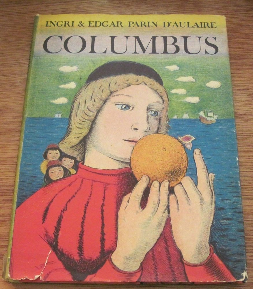 Homeschool Book love!!!  Great vintage book. Columbus Ingri and Edgar Parin D'Aulaire 1955 Vintage Hardcover #birdhousebooks