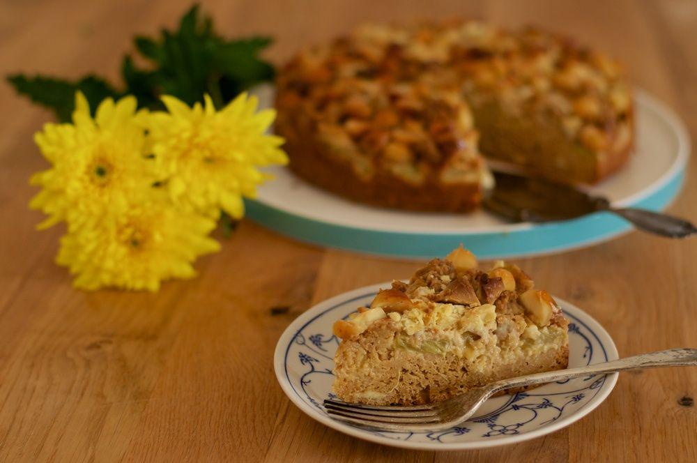 Macadamia White Chocolate Rhubarb Cake — kitchen hoopla