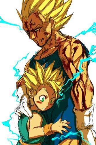 Vegeta hugging his son anime cartoons pinterest - Dbz et one piece ...