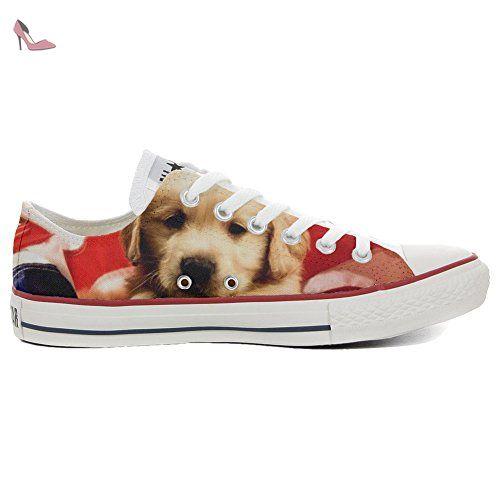 Converse All Star Chaussures coutume mixte adulte (produit  artisanalPersonnalisé) Slim Puppy - TG41 -