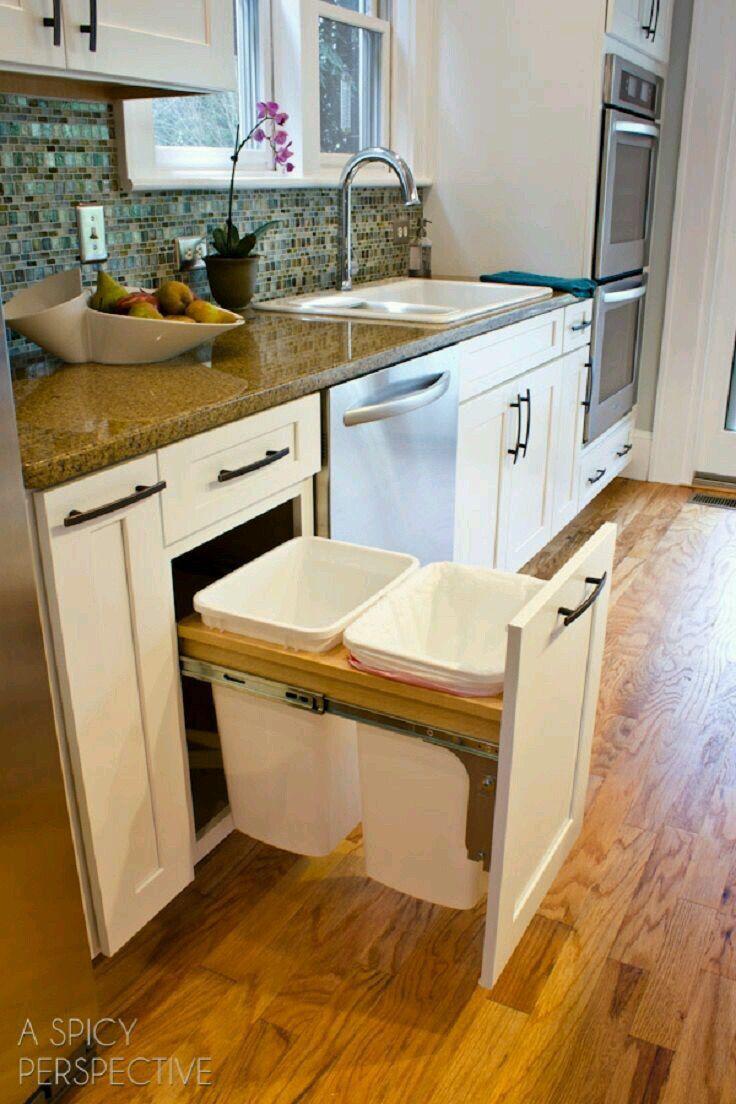 Bote de basura ideas pinterest cocinas cocinas for Cocinas integrales modernas chiquitas