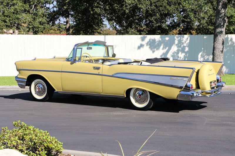 1957 Chevrolet Bel Air Convertible Cream Yellow Stk 57 3030p Title
