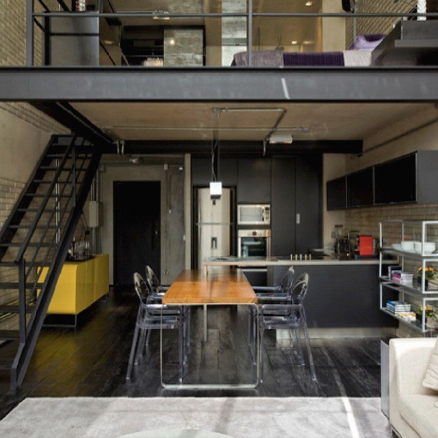 Loft bedroom with no door  Creative Urban Industrial Decor plans To Nail Your Urban Loft