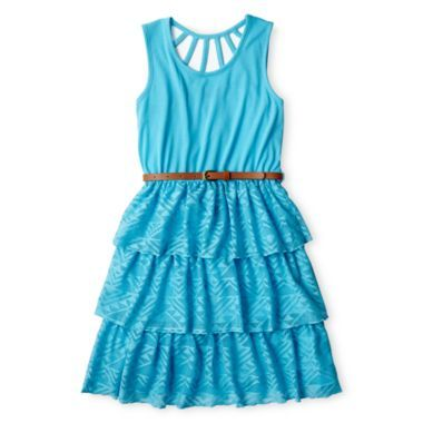 36cdfea2e Disorderly Kids® Lace Tiered Sleeveless Dress - Girls - 7-16 found at   JCPenney