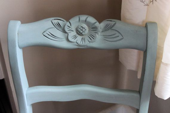 Duck Egg Blue Antique Chair by WhimsicallyMellow on Etsy, $88.00