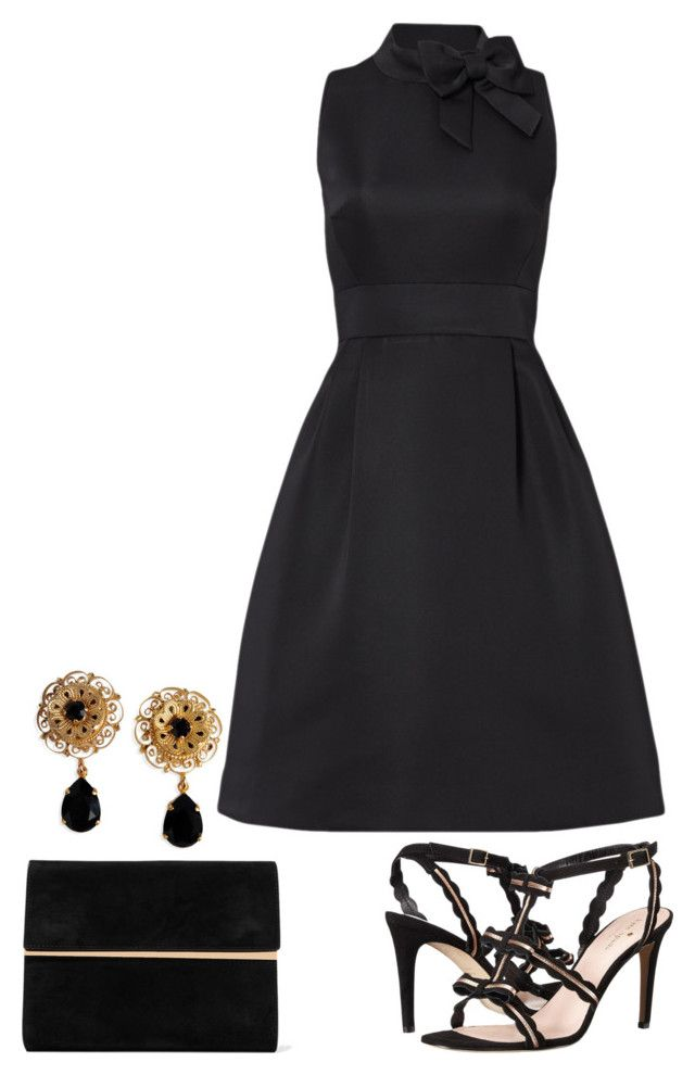"""black suede"" by dprice15 ❤ liked on Polyvore featuring Maison Margiela, Kate Spade and Dolce&Gabbana"