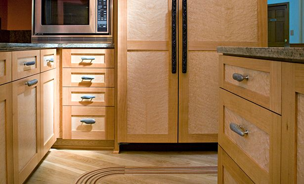 Wood Done Right Straight Grain Cherry Birdseye Maple Cabinetry