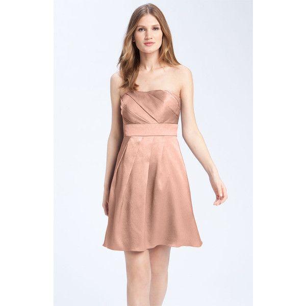 Wedding Entourage Hairstyle: Jenny Yoo Collection Hammered Satin Strapless Dress Found