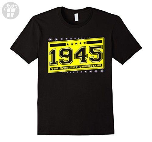 Mens Born in 1945 birthday 72 th gift perfect T-Shirt XL Black - Birthday shirts (*Amazon Partner-Link)