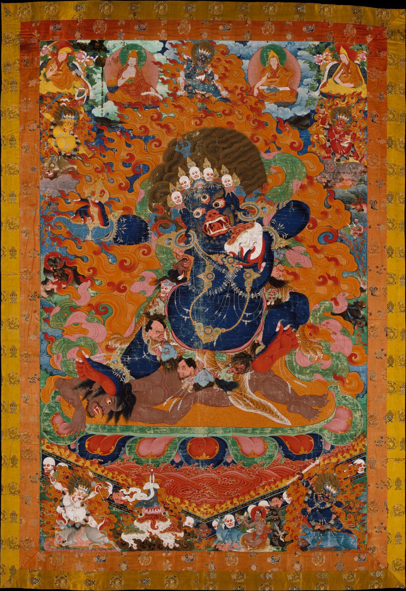 Yama Tibet With Images Buddhist Art Tibetan Art Thangka