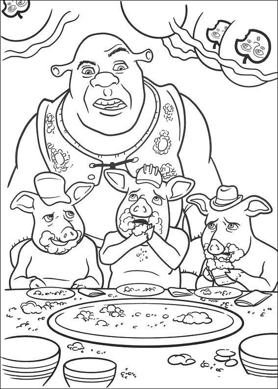 Dibujos para Colorear Shrek 105 | Dibujos para colorear para niños ...