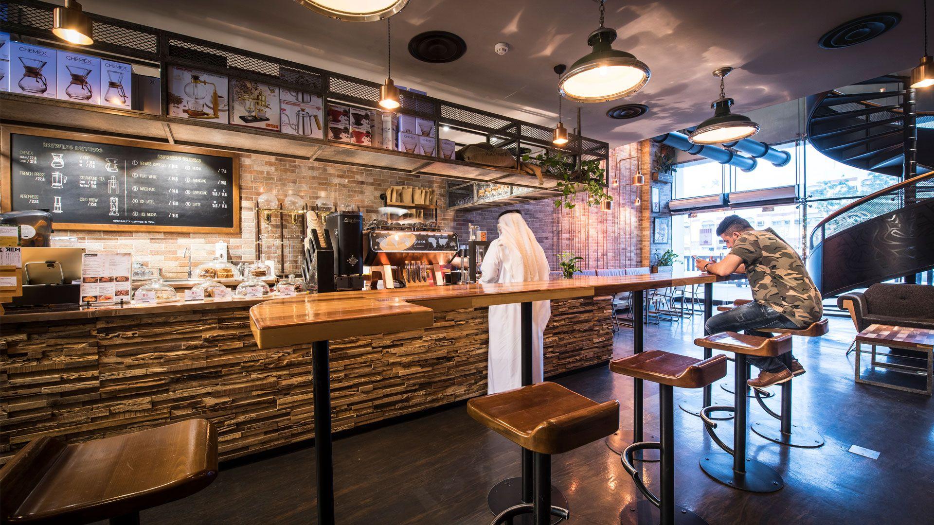 Brew 92 Jeddah By Liqui Design Coffee Shop Interior Design Coffee Shop Design Shop Interior Design