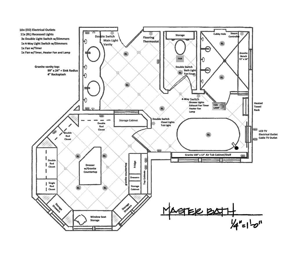 Master Bathrooms Floor Plans