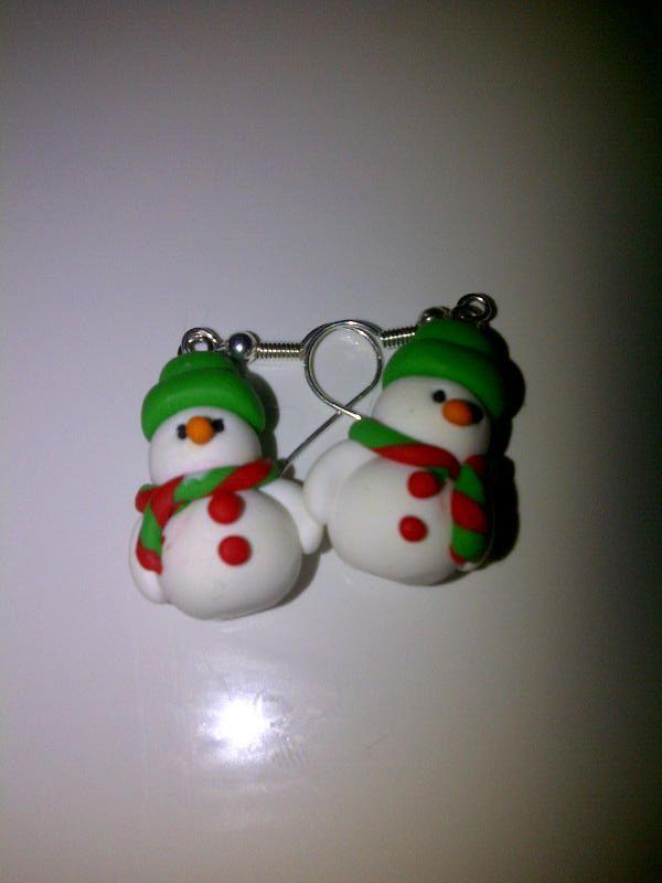 Snowman earings