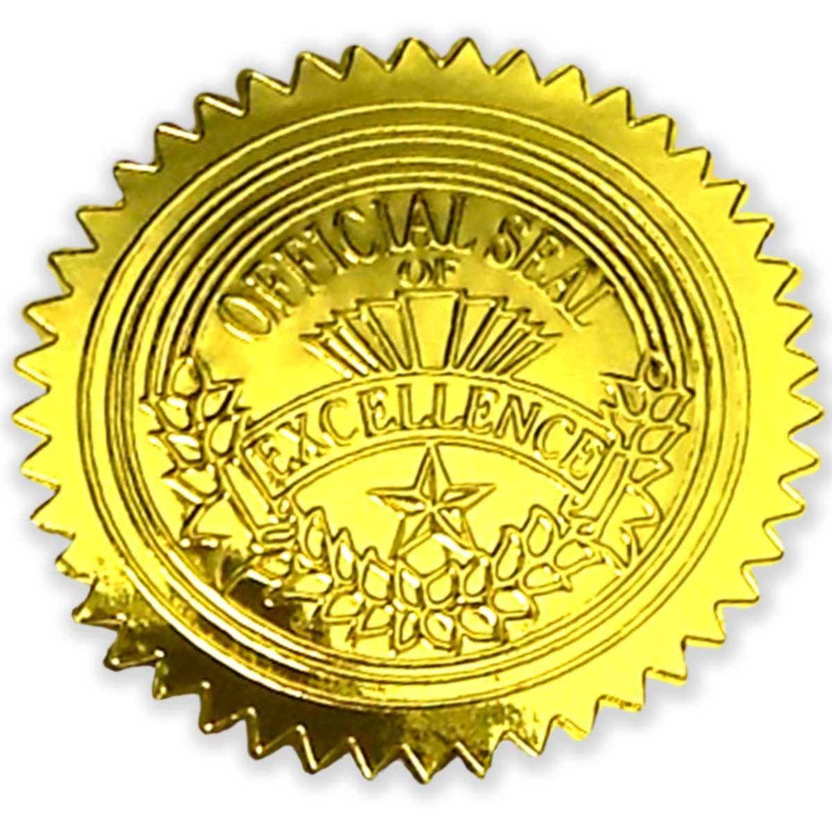 Gold Excellence Seals 50 Count Geo47853 Designer