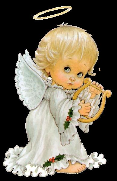 Angel Lindo Con La Arpa Gratuito Png Imagenes Predisenadas Imagen Christmas Angels Angel Pictures Angel Art