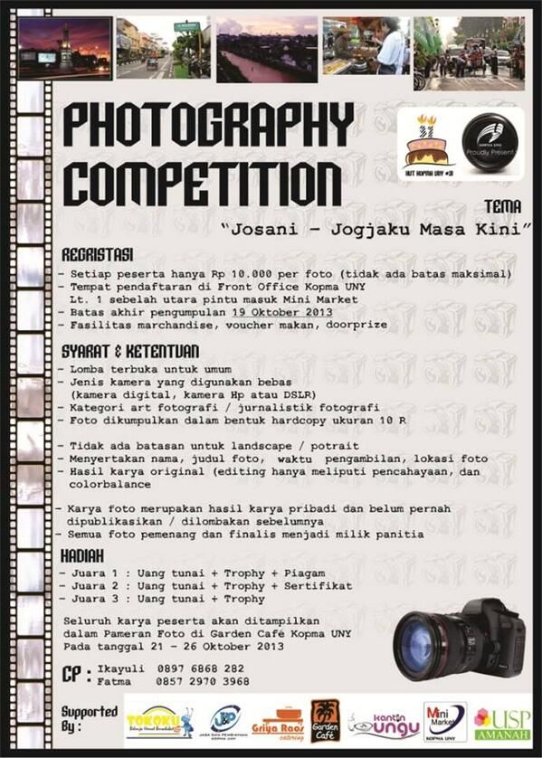 Photography Competition Jogjaku Masa Kini http://bit.ly/15mc02z