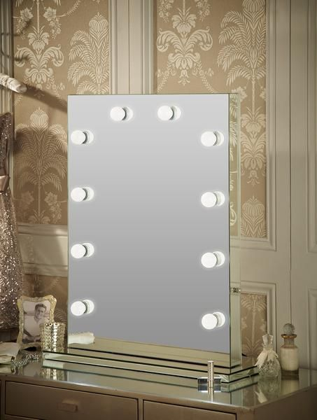 This Handmade Light Up Dressing Table Mirror Completes The Look Of Any  Boudoir. Suitable For Both Home Use And For Professional Makeup Artists And  Salons ...