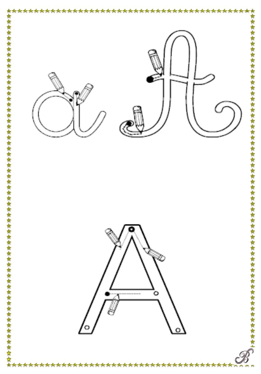 alphabet gratuit pour apprendre à écrire. à imprimer en ...