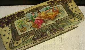 Rare Antique 1902 Irish Biscuit Tin W R Jacob & Co Clematis Jacobs ...