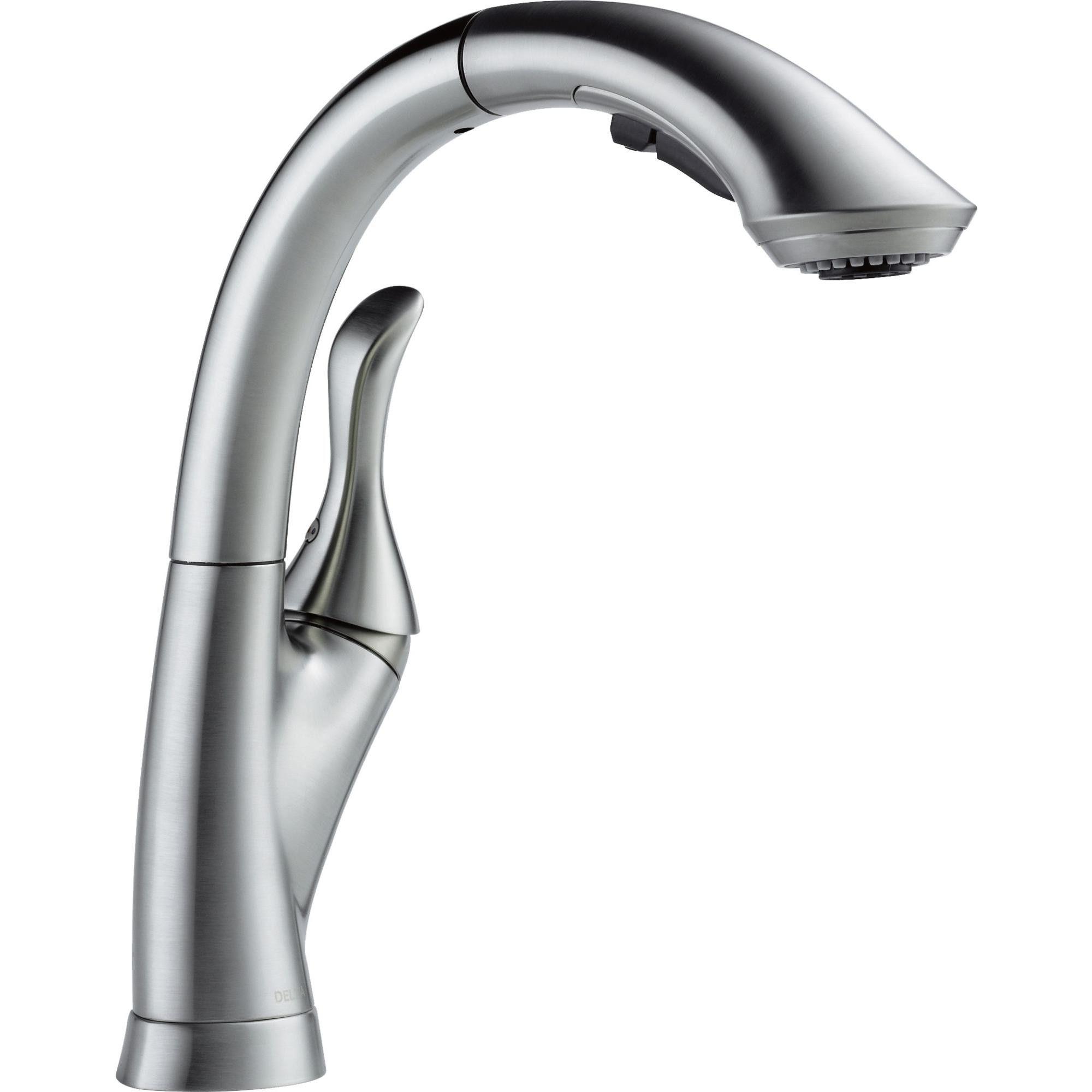 Delta Faucet 4153 Dst Linden Pull Out Kitchen Faucet Arctic