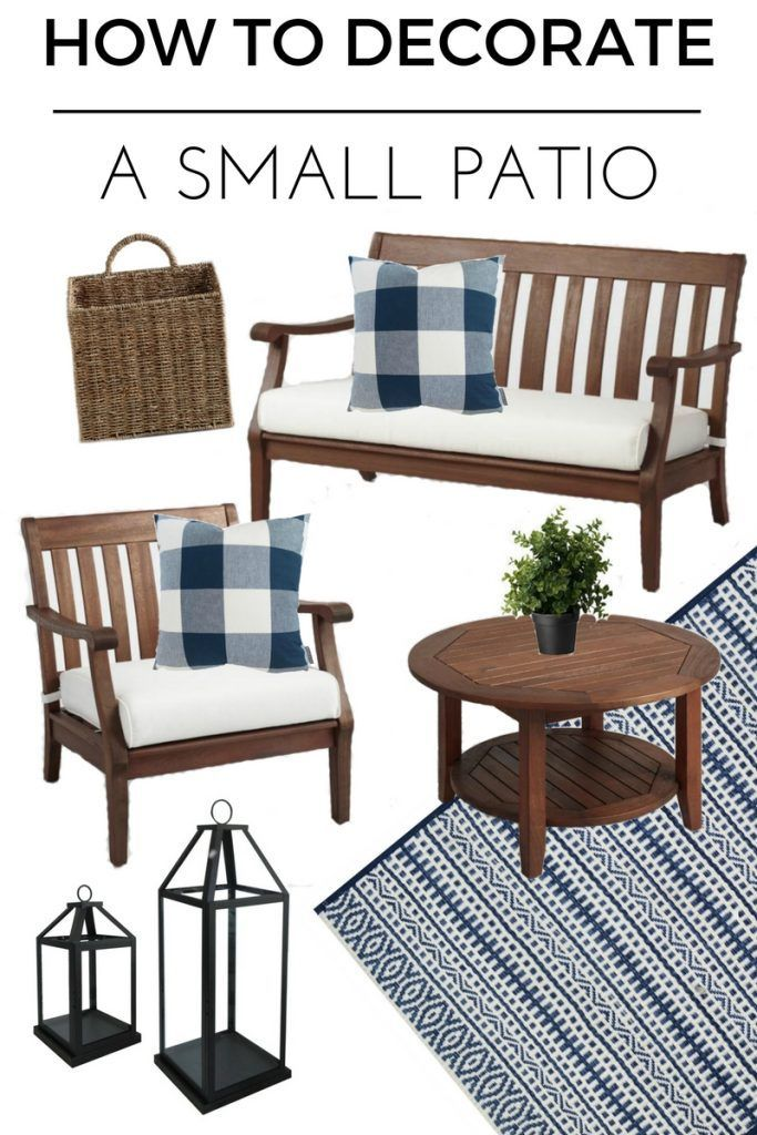 How To Decorate a Small Patio You'll Love | Small patio ... on Uncovered Patio Ideas id=95074