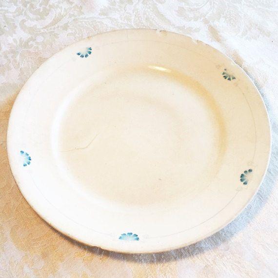 Homer Laughlin Empress Pattern White and Blue Vintage China Dinner ...