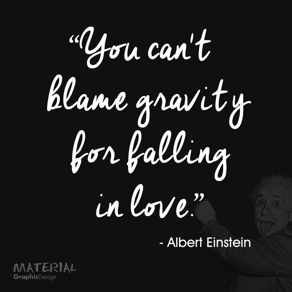 Einstein wall art quote sticker decal you cant blame