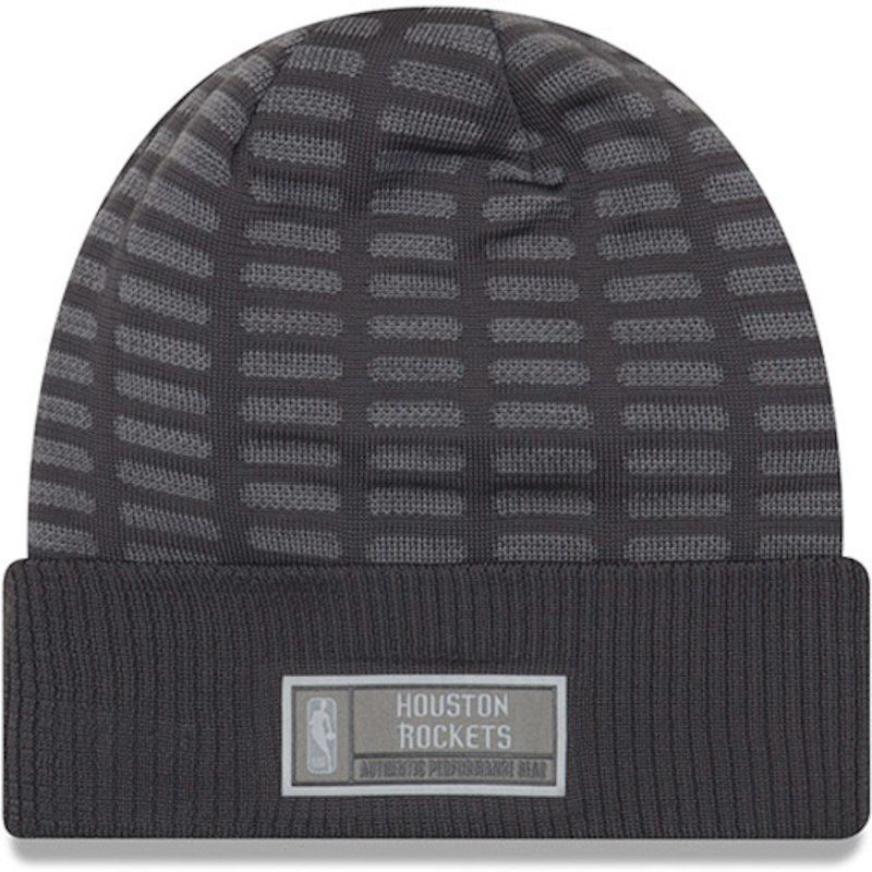 competitive price 56599 6d2af Houston Rockets New Era Authentic Training Cuffed Knit Hat - Graphite