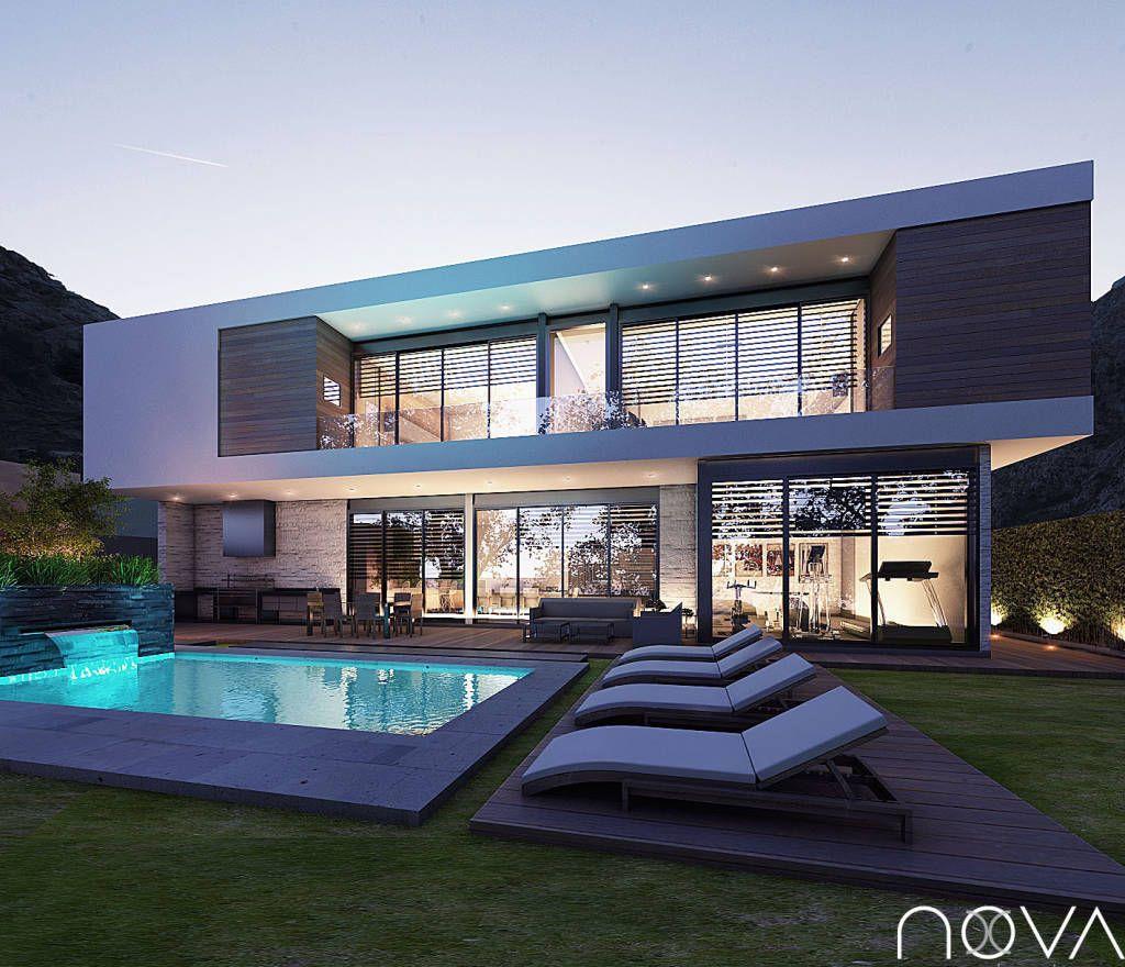 Busca imágenes de diseños de Casas estilo moderno}: Fachada posterior. Encuentra las mejores fotos para inspirarte y y crear el hogar de tus sueños.
