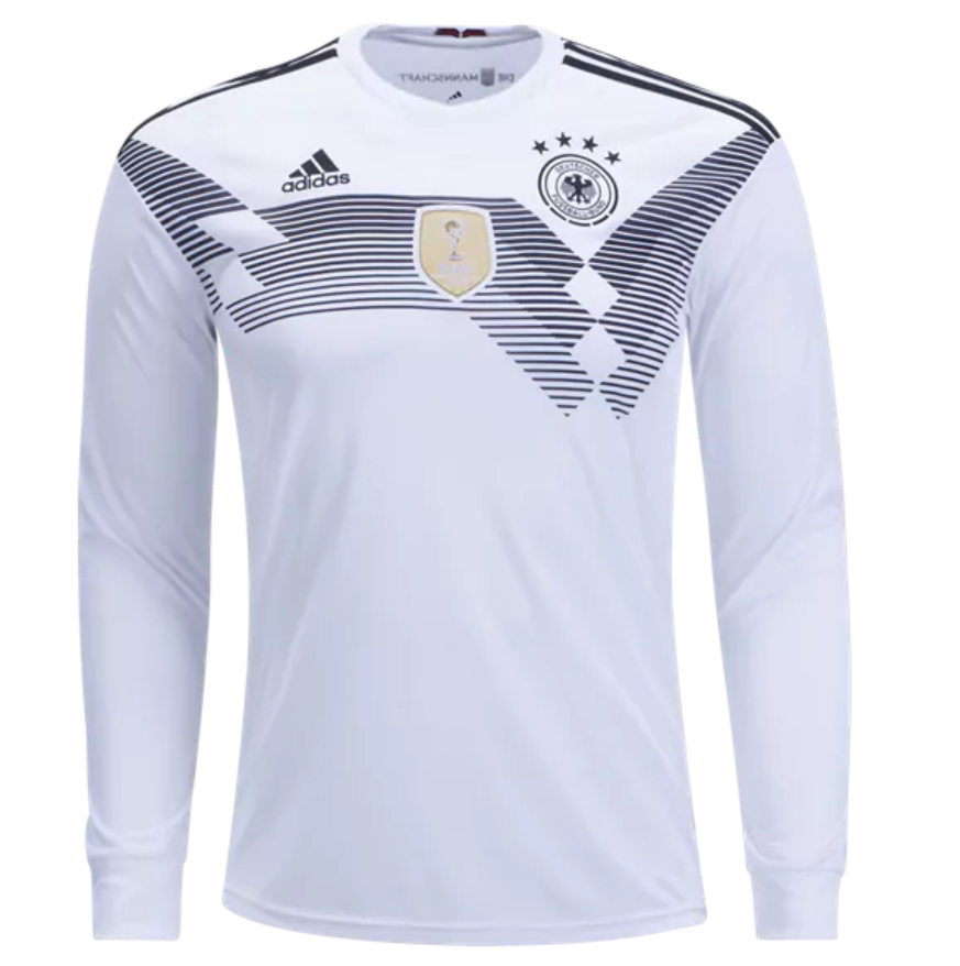 67d6716cc Germany 2018 World Cup Home Men Long Sleeve Soccer Jersey Personalized Name  and Number