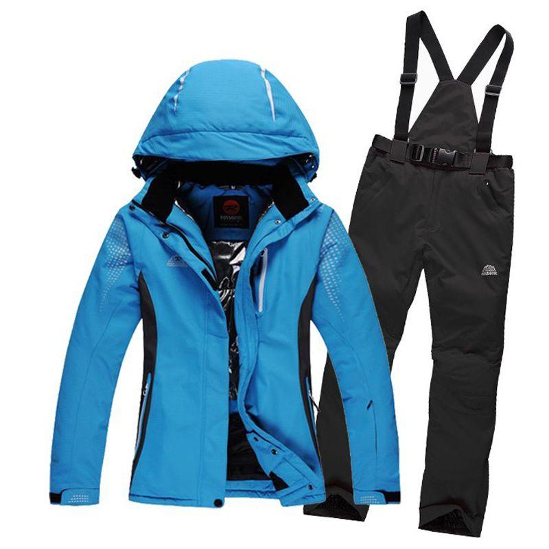 a5648147 Free shipping Rossignol snowboard jacket men women unisex ski jacket pants  suits winter outdoor waterproof windproof skiing set