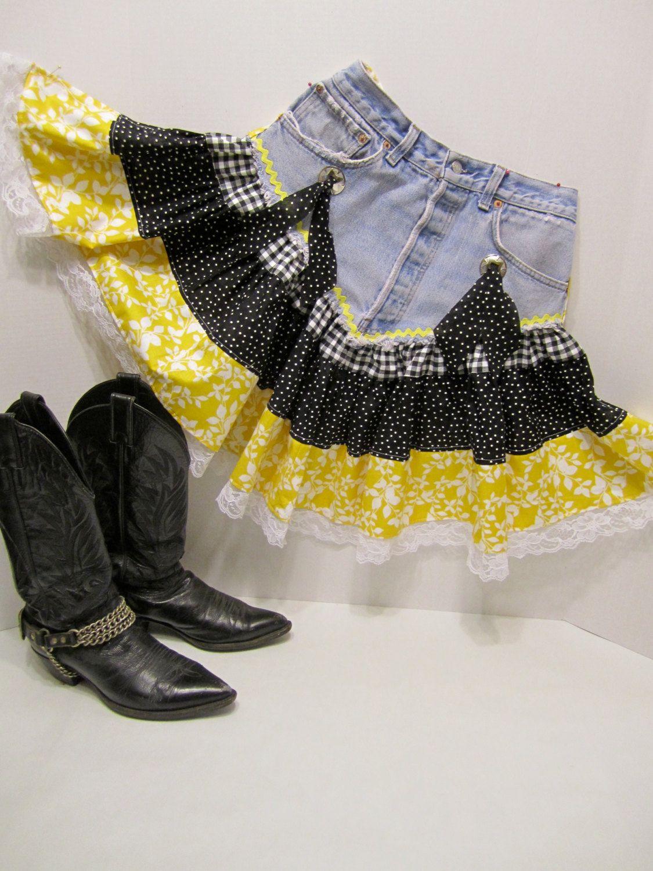 Square Dance Apron Barn Dance Outfit Dance Dresses