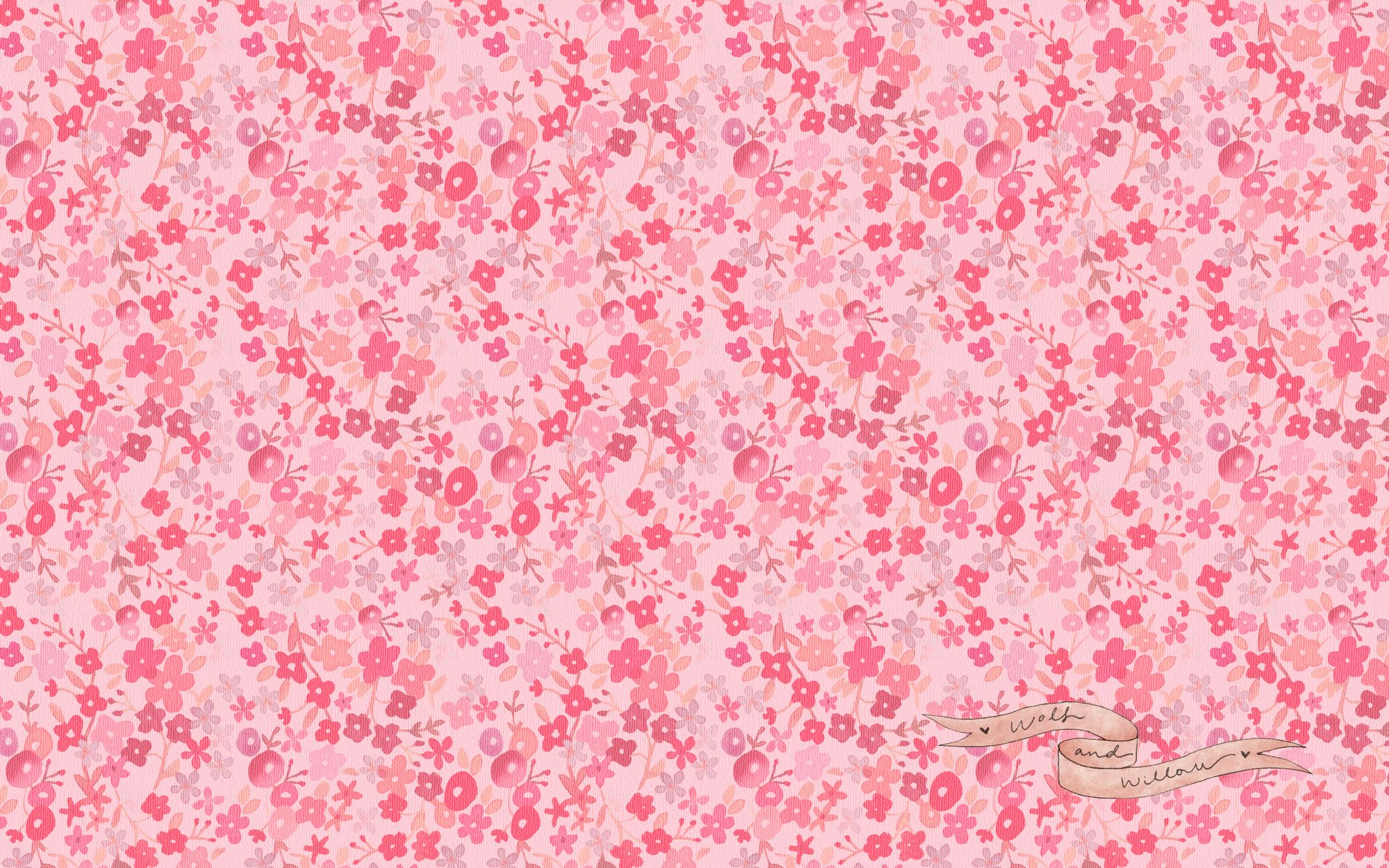 Pink Small Flower Wallpaper Wallpaper Free Download Flowers