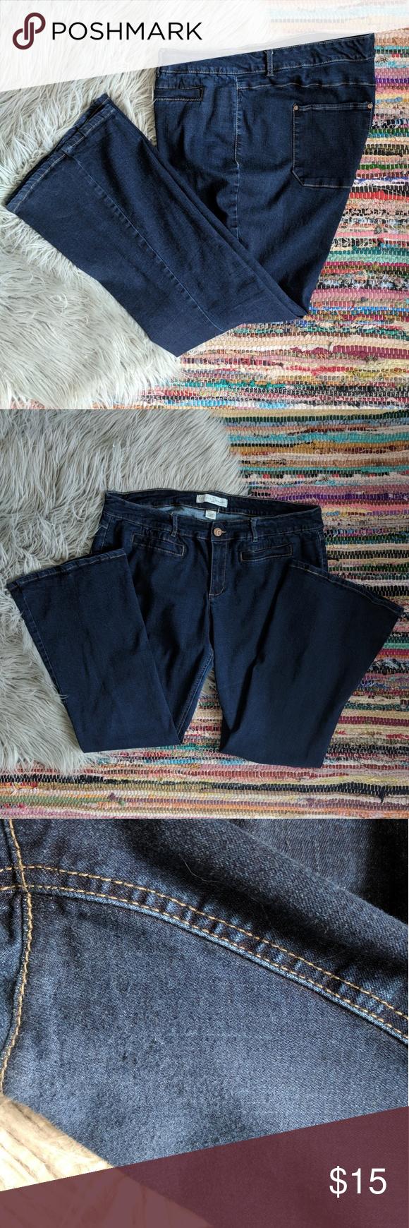 c9a65347f4 Cato Premium Flare Jeans Rinse Wash 22W Petite Petite flare jeans from Cato  Fashions. Dark